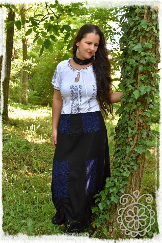 keresztszemes borbolya szoknya fekete-kék főkép